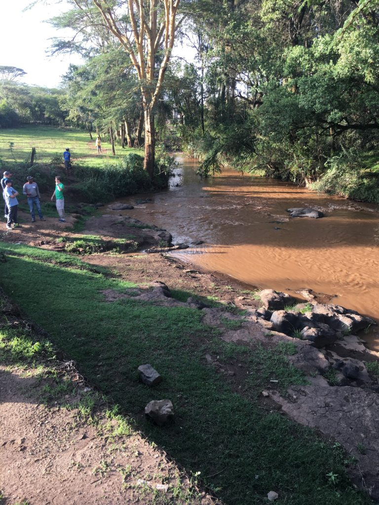 River in Africa near where the Pregis team worked with Uzima